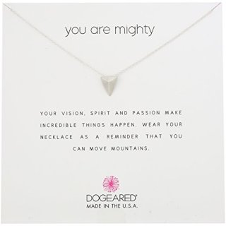 """Dogeared Reminders- You Are Mighty Sterling Silver Pyramid Charm Necklace, 16""""+2"""" Extender"""