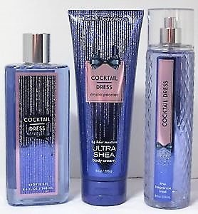 Bath & and Body Works Cocktail Dress Shower Gel 8.4 FL OZ, Body Cream 8 FL OZ, & Fine Mist 8 FL OZ