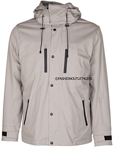 Gucci Viaggio Collection Men's Beige Techno Cotton Twill Hooded Winter Snow Jacket, Beige, XS