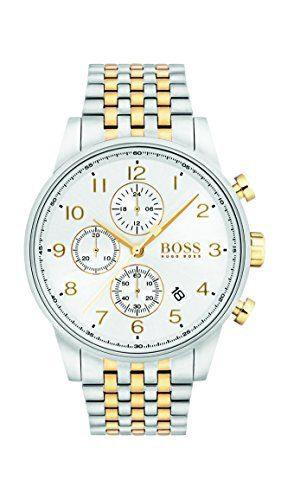 Hugo Boss Silver/Gold 44mm Stainless Steel Navigator Men's Watch