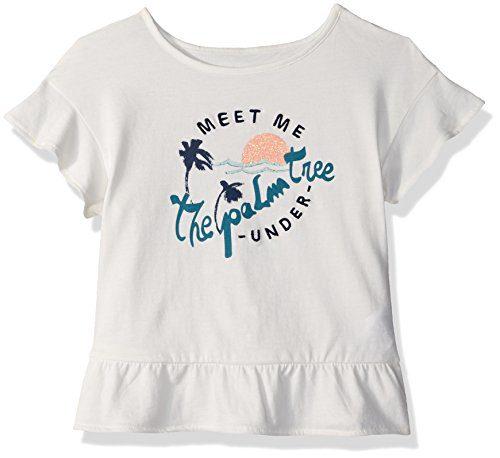 Roxy Little Girls' Salty Hair T-Shirt, Marshmallow