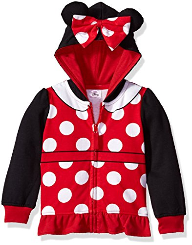 Toddler Girls' Minnie Mouse Costume Zip-up Hoodie