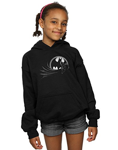 DC Comics Girls Batman Spot Hoodie 9-11 Years Black