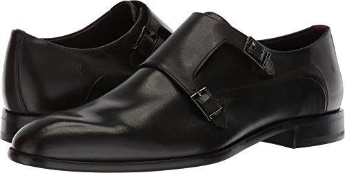 HUGO by Hugo Boss Men's Appearl Double Dress Shoe Monk-Strap Loafer, Black, 8.5 M US