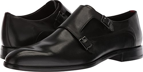 HUGO by Hugo Boss Men's Appearl Double Dress Shoe Monk-Strap Loafer, Black, 8.5 M US