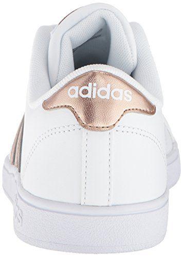 low priced 08dfe 5a5b0 Home Shop Kids Girls Shoes adidas Originals Unisex-Kids Baseline Sneaker,  White Copper Metallic Black, 1.5 M US Little Kid