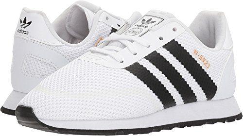 adidas Originals Unisex-Kids N-5923 C Sneaker, FTWR White, Core Black, FTWR White, 1 M US Little Kid