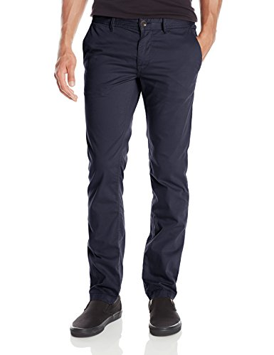 BOSS Orange Men's Schino-Slim1-D Slim Fit Cotton Stretch Chino Trouser, Dark Blue, 36x32
