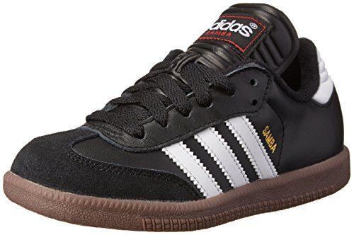 adidas Performance Kid's Samba Classic Athletic Shoe, schwarz/white, 4 M US Big Kid