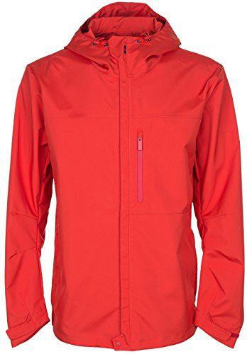 Gucci Men's Red Hooded Heat Sealed Windbreaker Jacket, Red, 2XL
