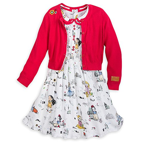 Disney Animators' Collection Dress Set for Girls Size 5/6 Multi