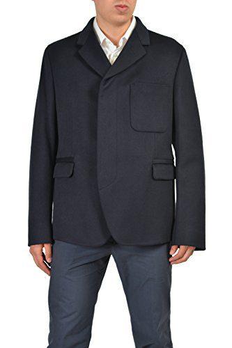 Gucci Men's Navy Silk Blazer Jacket Size US 42 IT 52