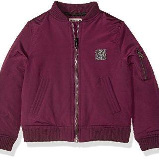 Calvin Klein Little Girls' Aviator Jacket, Merlot, 6X