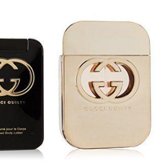 Gucci Guilty by Gucci for Women 3 Piece Set Includes: 2.5 oz Eau de Toilette Spray + 3.3 oz Perfumed Body Lotion + 0.25 oz Eau de Toilette Fragrance Pen Spray