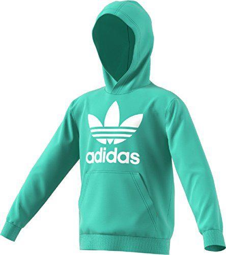 7ec8691dd545 adidas Originals Kids Unisex Trefoil Hoodie (Little Kids Big Kids) Easy  Green
