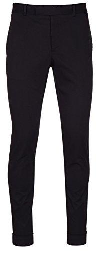 Gucci Men's Black Cotton Rolled up Riding Pants, Black, US 34/EU 50