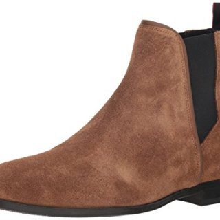 HUGO by Hugo Boss Men's Boheme Suede Chelsea Boot, Medium Brown, 43 M EU (10 US)
