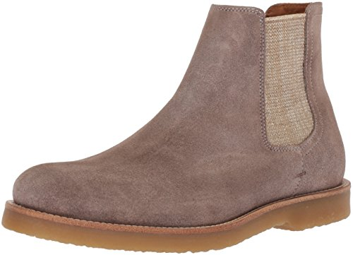 Hugo Boss BOSS Orange by Men's Cuba Chelsea Boot in Suede Construction Shoe, Pastel Grey, 11 N US