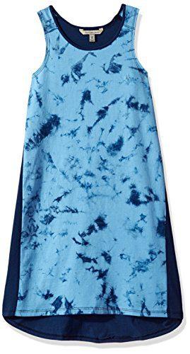 Calvin Klein Toddler Girls' Vapor Dyed Dress, Navy, 4T