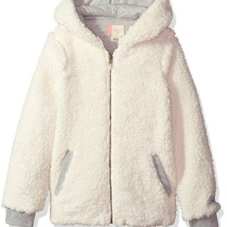 Roxy Big Girls' Fashion Sherpa Sweatshirt, Marshmallow, 12/L