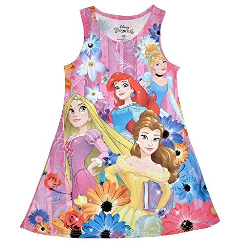 Disney Princess Girls' Sublimated Tank Dress XS(4/5)