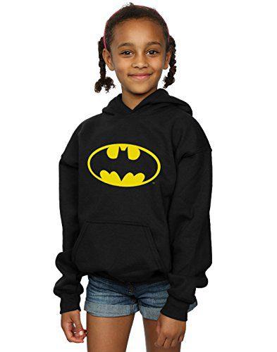 DC Comics Girls Batman Logo Hoodie 12-13 Years Black