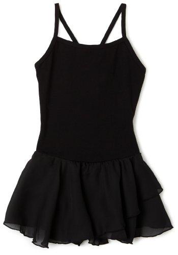 Capezio Little Girls' Camisole Cotton Dress,Black,I ( 6-8)