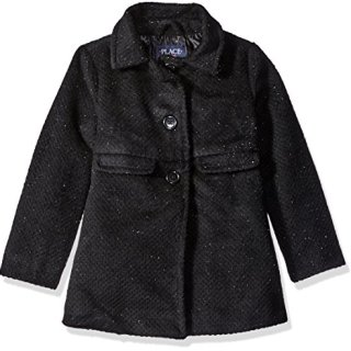 The Children's Place Big Girls' Dressy Jacket, Black