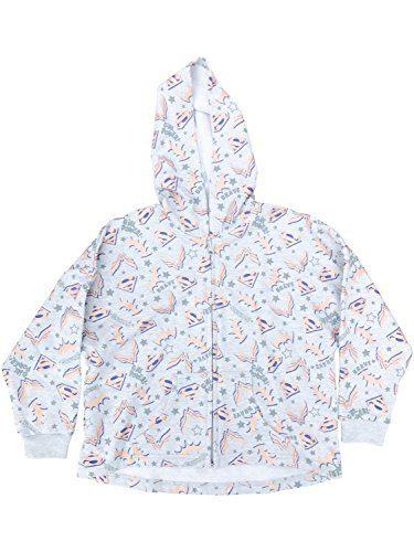 DC Comics Superhero Girls Print Hooded Sweatshirt w/Front Pocket Gray Size 5