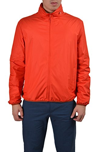 Gucci Men's Orange Full Zip Hooded Windbreaker Jacket US XL IT 54;