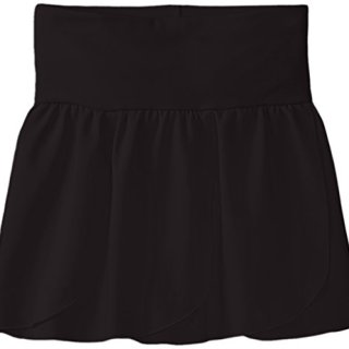 Capezio Little Girls' Petal Skirt,Black,Toddler