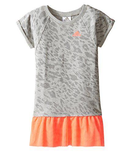 adidas Kids Baby Girl's Can't Catch Me Dress (Toddler/Little Kids) Grey Dress