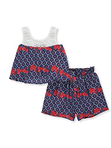 Bonnie Jean Little Girls' Toddler 2-Piece Outfit - Navy, 2t