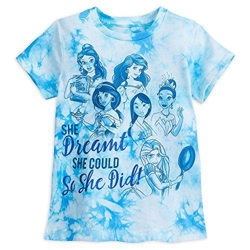 Disney Princess Tie-Dye T-Shirt Girls Size M (7/8) Multi