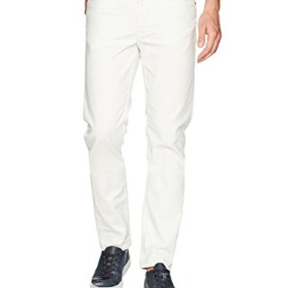 Hudson Jeans Men's Sartor Relaxed Skinny, Off White, 33