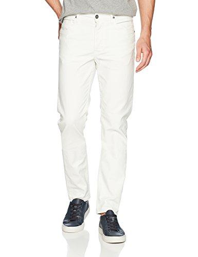 Hudson Jeans Men's Sartor Relaxed Skinny, Off White, 33