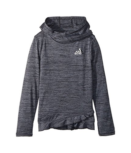 adidas Kids Baby Girl's Space Dye Melange Hoodie (Toddler/Little Kids) Black 4 US Little Kid