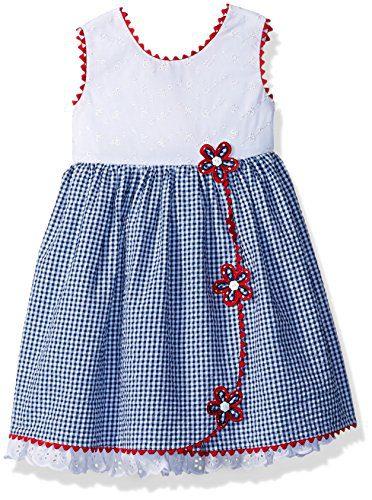 b6b1f4ed0dd Bonnie Jean Toddler Girls' Americana Dress, Seersucker Flowers, 4T ...