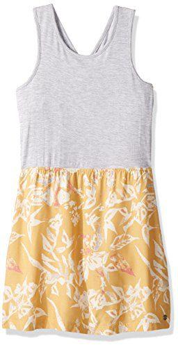 Roxy Big Girls' Inspire Life Tank Dress, Fall Leaf Pendulum, 8/S