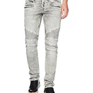 Hudson Jeans Men's The Blinder Biker Jean, Carbon Fiber, 38