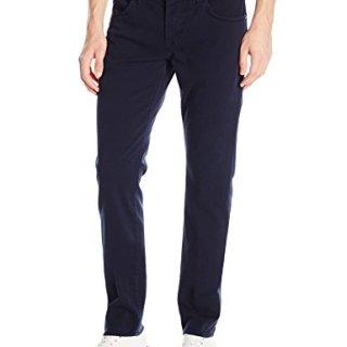 Hudson Jeans Men's Blake Slim Straight Leg Twill Pant, Covert Blue, 36