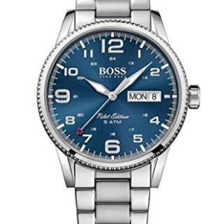 Hugo Boss Pilot Vintage Silver / Blue Stainless Steel Analog Quartz Men's Watch