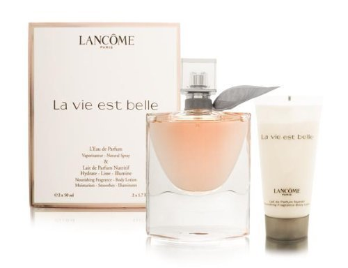 LA VIE EST BELLE by Lancome Gift Set for WOMEN: EAU DE PARFUM SPRAY 1.7 OZ & BODY LOTION 1.7 OZ (TRAVEL OFFER)...
