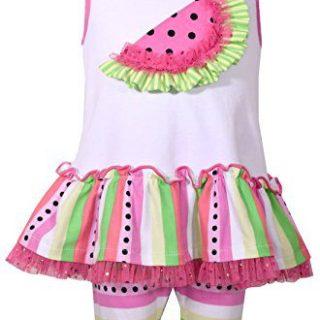 Bonnie Jean Toddler Girls' Sleeveless Knit Appliqued Dress and Legging Set, Fuchsia (6)