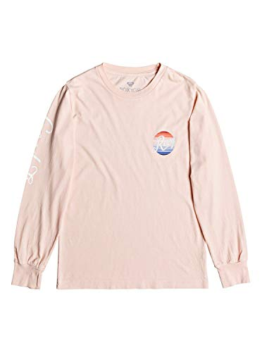 Roxy Girls' Big Rainbow Long Sleeve T-Shirt, Peach Whip, 16/XXL