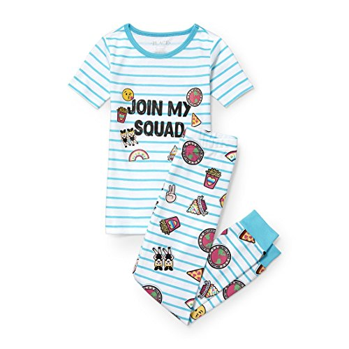 The Children's Place Big Girls' Top and Pants Pajama Set