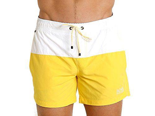 Hugo Boss BOSS Men's Flounder Swim Trunk Open Yellow Medium