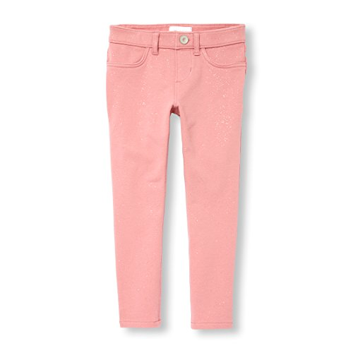 The Children's Place Big Girls' Glitter Jeggings, Flora, 8