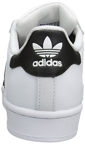 sale retailer f3eb0 37001 Home  Shop  Kids  Girls  Shoes  adidas Originals Superstar J Casual  Low-Cut Basketball Sneaker (Big Kid),WhiteBlackWhite,5 M US Big Kid