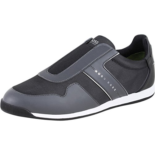 Hugo Boss Men's Maze Charcoal Memory Foam Trainers Loafers Shoes Sz: 9